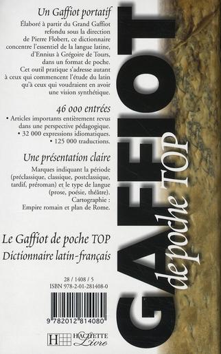 Gaffiot poche top ; dictionnaire latin-français