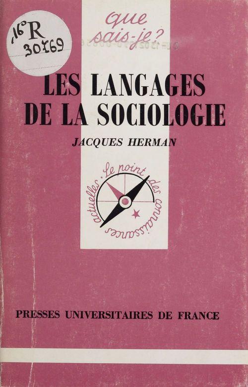 Les langages de la sociologie