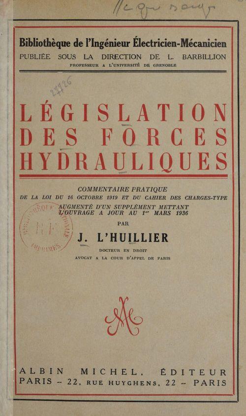 Législation des forces hydrauliques