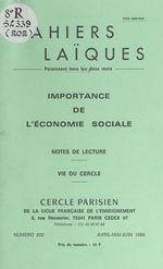 Vente Livre Numérique : Importance de l'économie sociale  - René Teulade - Yves Coppens - Louis Lafourcade