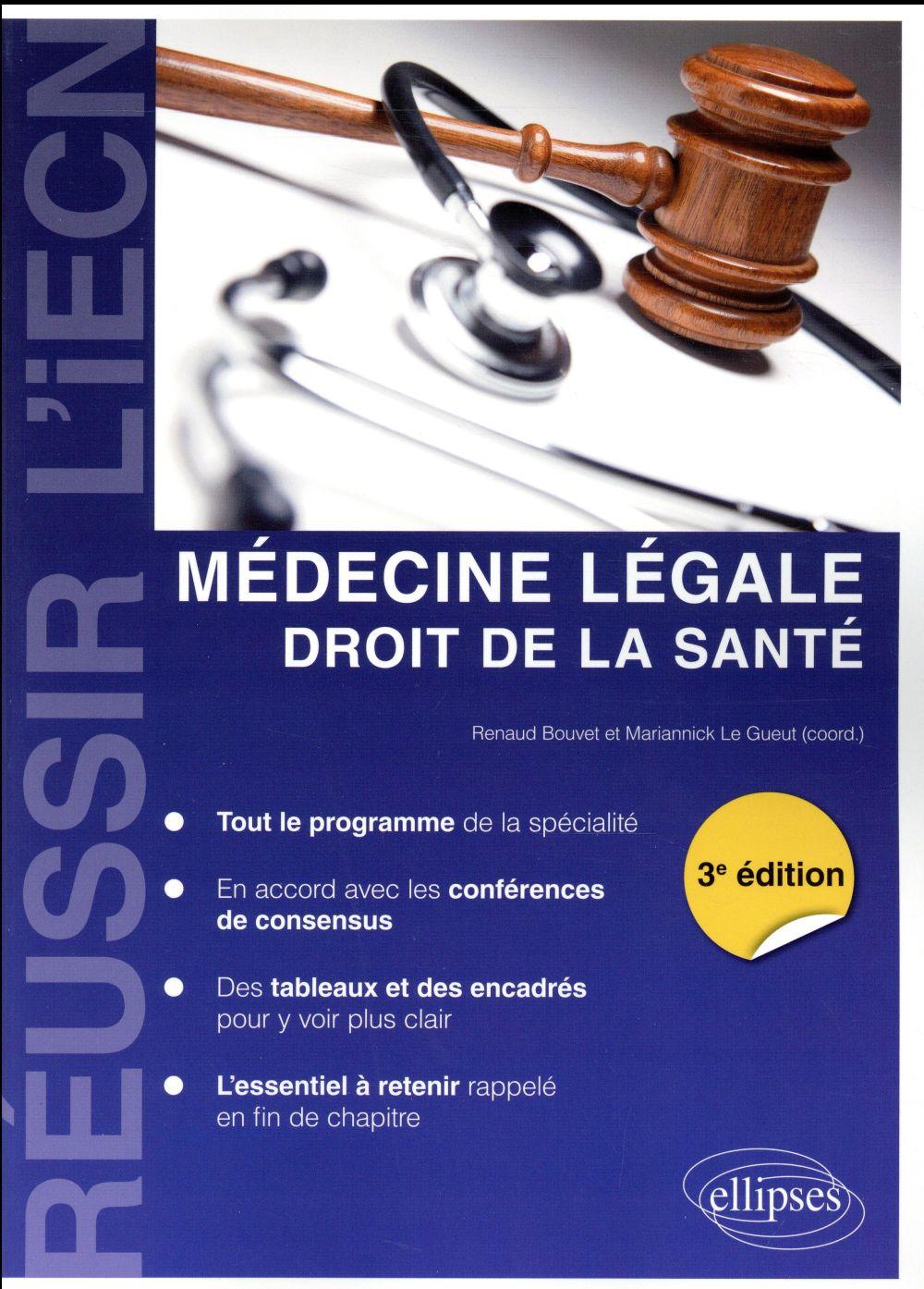Médecine légale ; droit de la santé (3e édition)