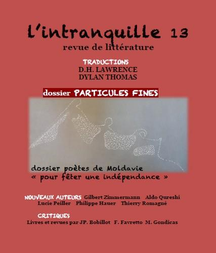 L'intranquille ; revue de litterature n.13