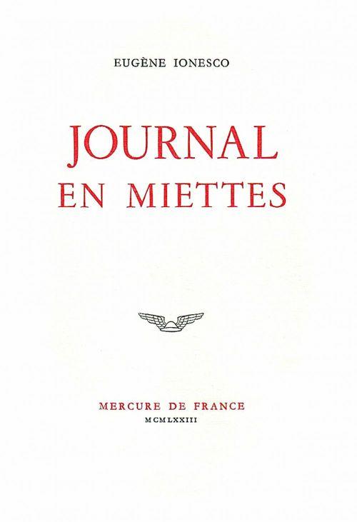 Journal en miettes