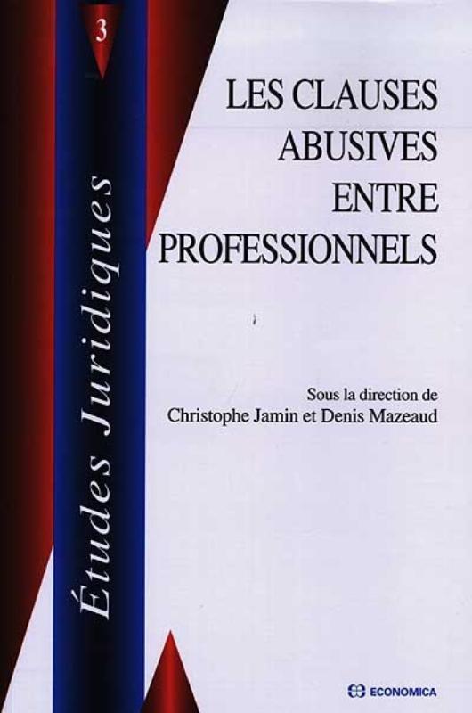 Les clauses abusives entre professionnels