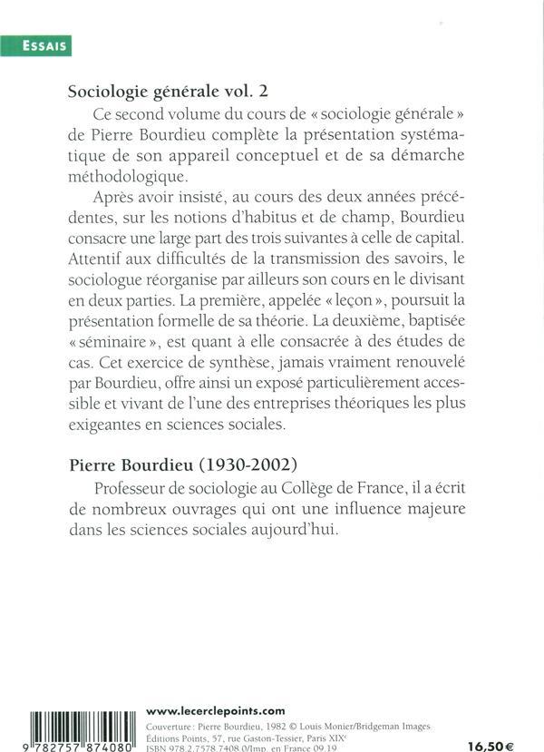 sociologie générale t.2 ; cours au Collège de France (1983-1986)