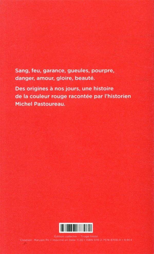 rouge ; histoire d'une couleur