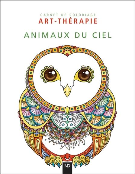 Animaux du ciel ; carnet de coloriage art-thérapie