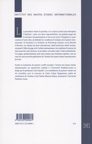 Grandes pages du droit international T.5 ; la justice
