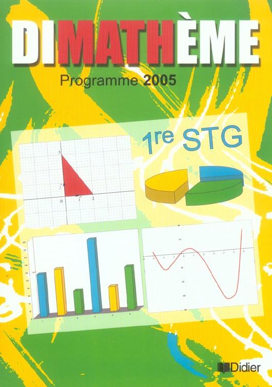 DIMATHEME ; mathématiques ; 1ère STG ; livre de l'élève