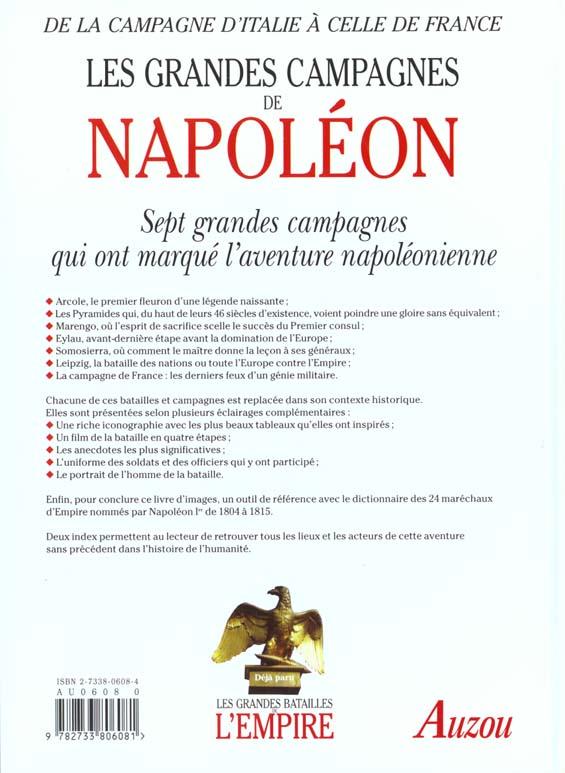 Les grandes campagnes de Napoléon
