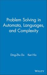 Problem Solving in Automata, Languages, and Complexity  - Ding-Zhu Du - Ker-I Ko
