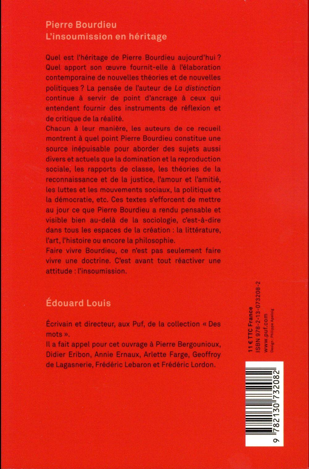Pierre Bourdieu, l'insoumission en héritage