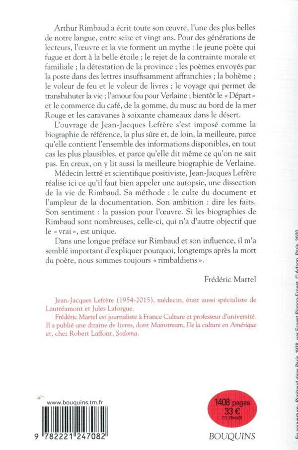 Rimbaud ; biographie