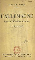 L'Allemagne depuis la Révolution française, 1789-1945