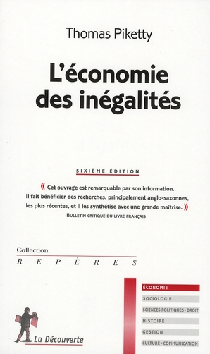 L'Economie Des Inegalites 6ed