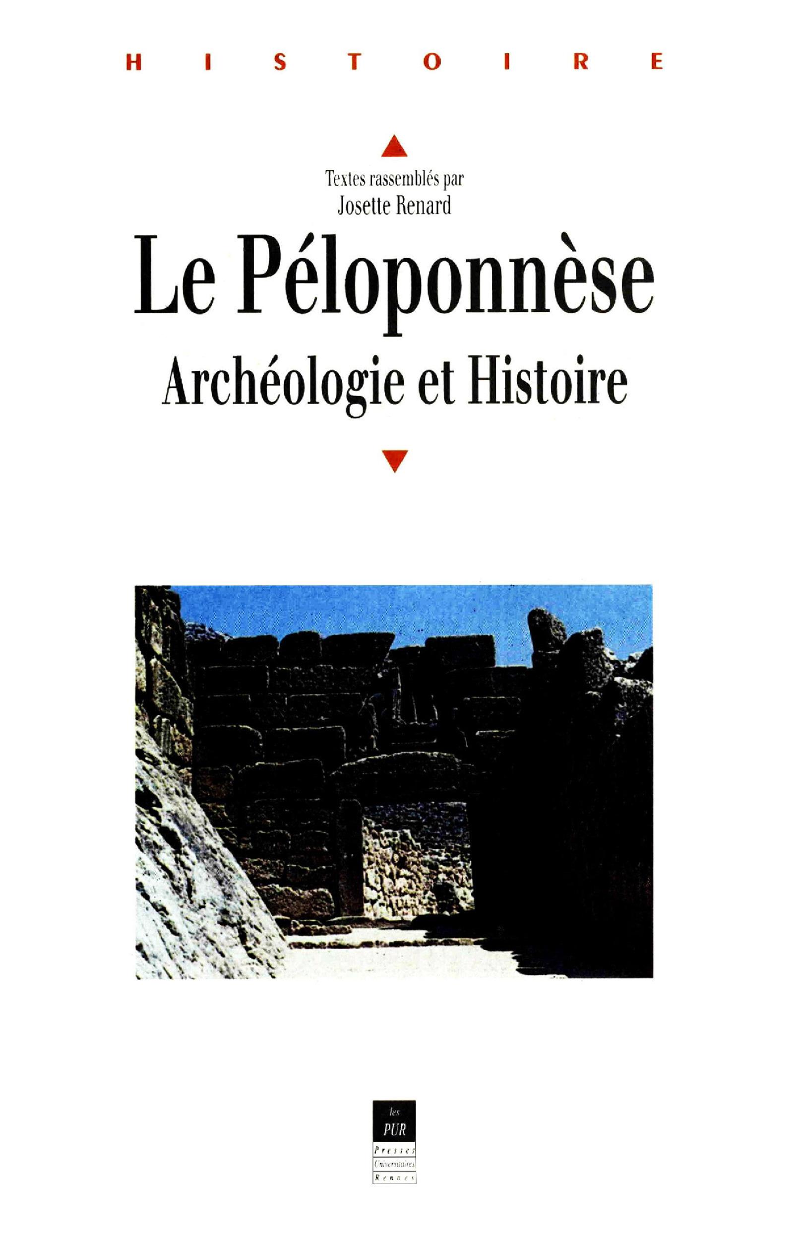 Peloponnese archeologie et histoire