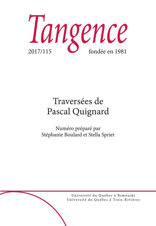 Tangence. No. 115,  2017