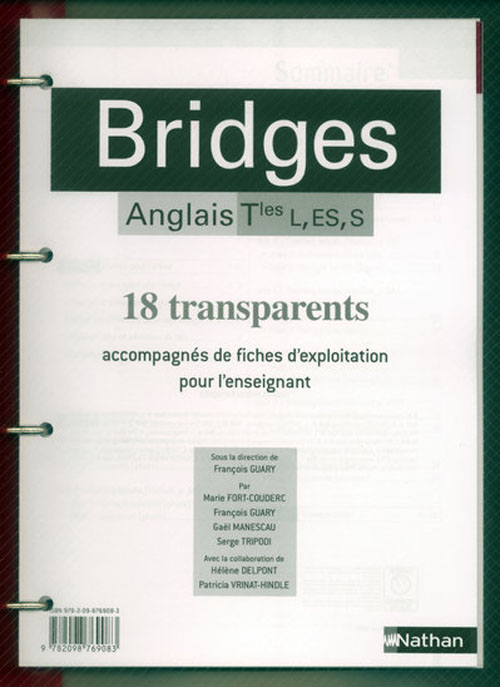 Bridges; Anglais ; Terminale L, Es, S ; 18 Transparents
