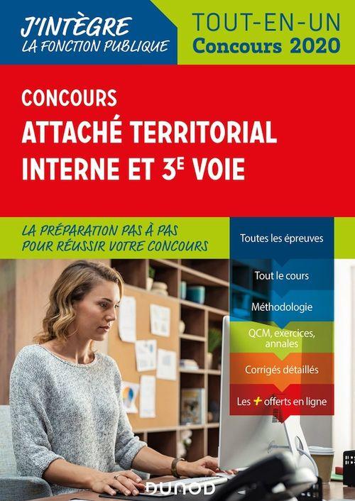 Concours attaché territorial interne et 3e voie ; tout-en-un (édition 2020)