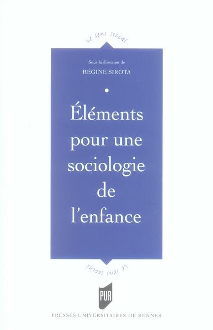 éléments pour une sociologie de l'enfance