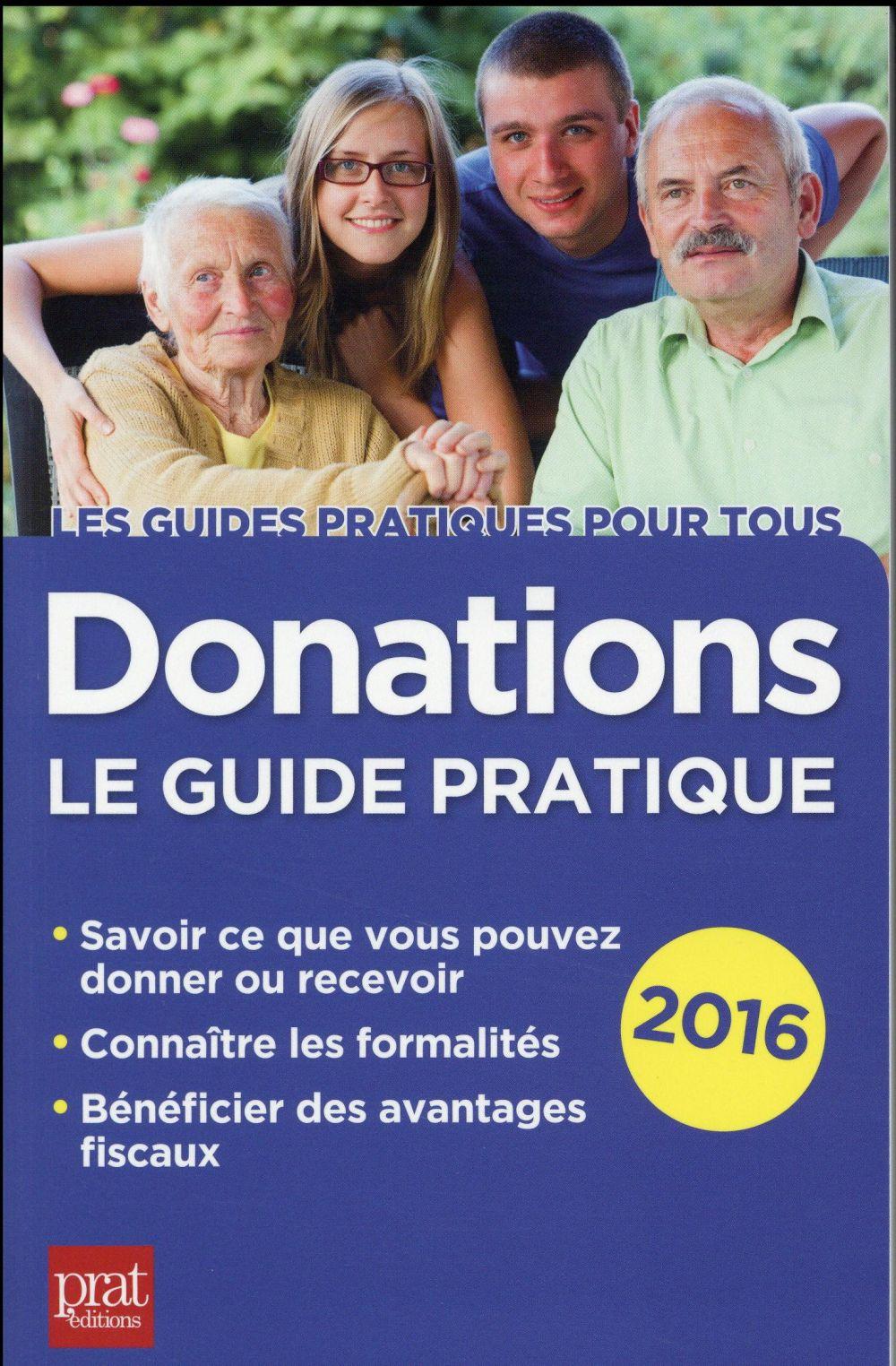 Donations le guide pratique 2016