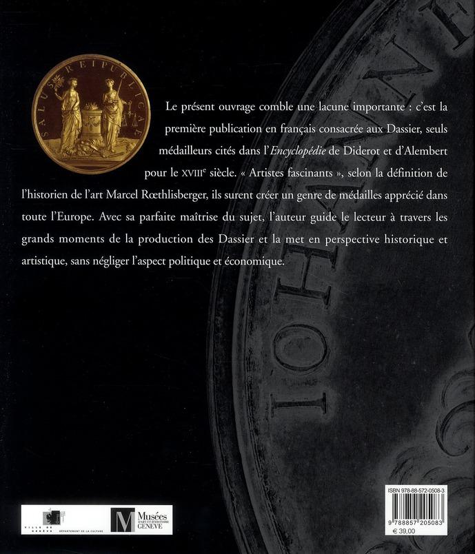 Images chatoyantes du siècle des Lumières ; les médailles des Dassier de Genève