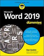 Vente Livre Numérique : Word 2019 For Dummies  - Dan Gookin