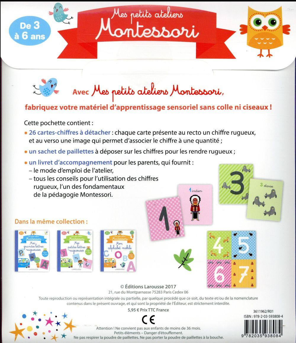 mes petits ateliers Montessori ; mes chiffres rugueux
