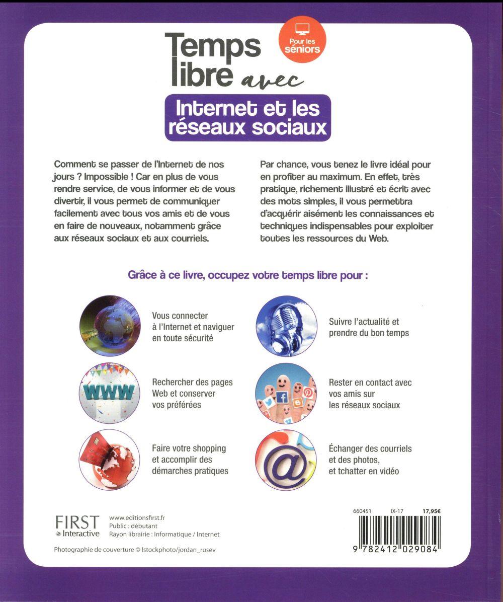 Temps libre avec internet et les réseaux sociaux ; pour les séniors