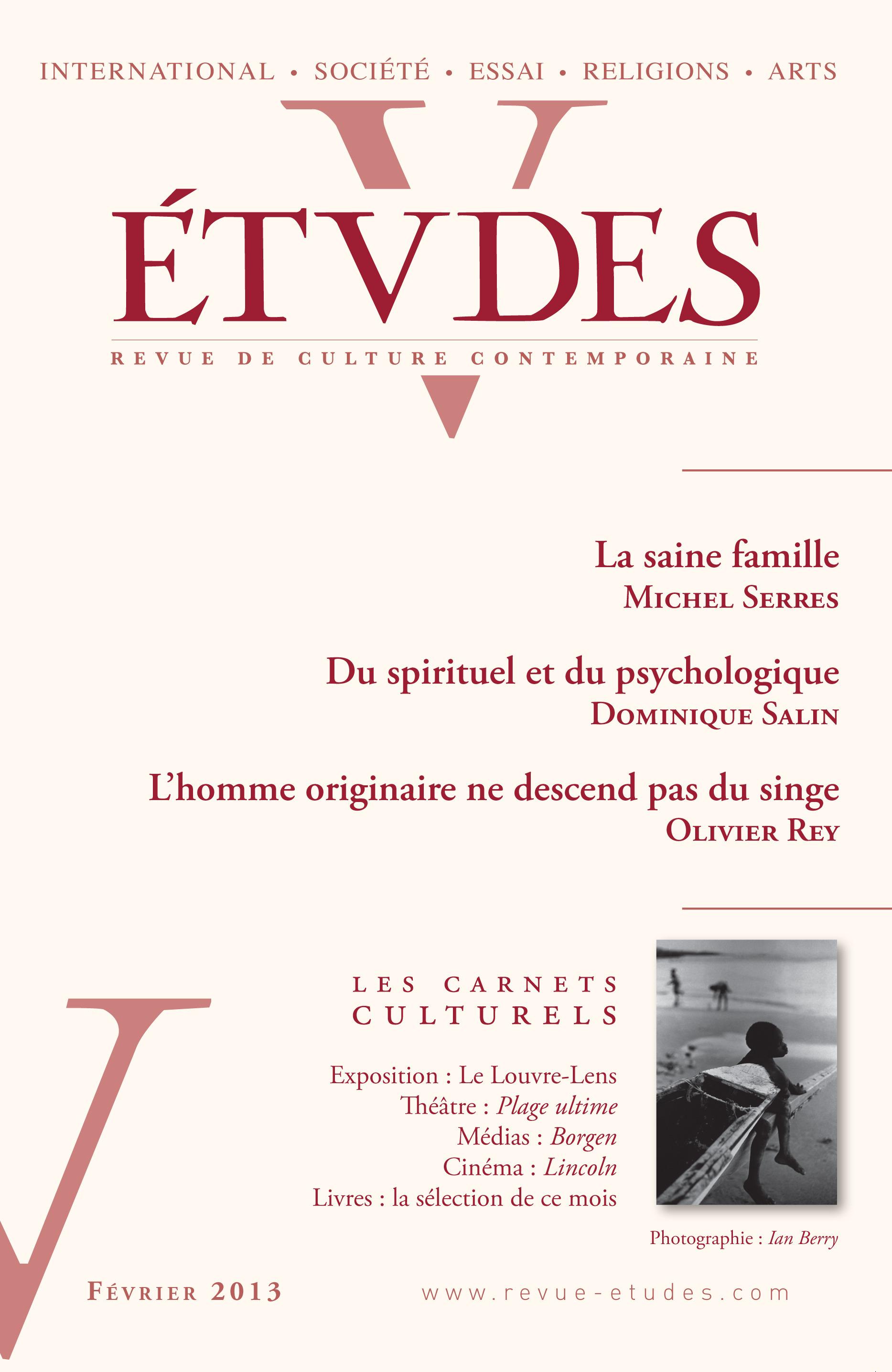 revue études ; Etudes Février 2013
