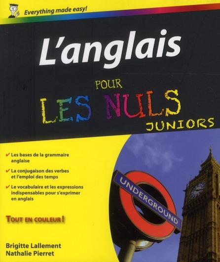 L'anglais pour les nuls ; juniors