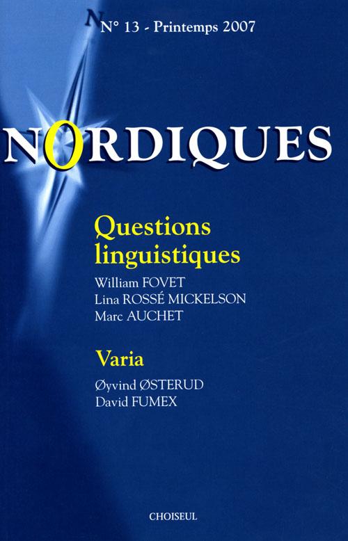 Nordiques t.13; question linguistiques ; varia