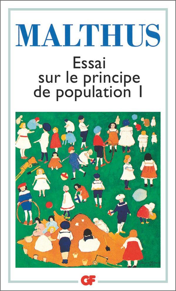 Essai sur le principe de population t.1