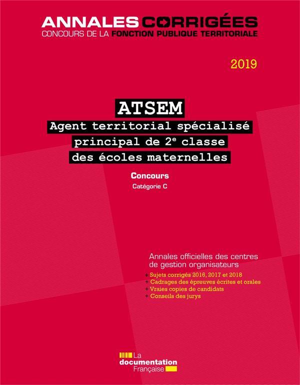 Agent territorial spécialisé des écoles maternelles principal de 2e classe 2019, ATSEM ; concours catégorie C