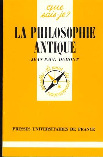 philosophie antique (la)