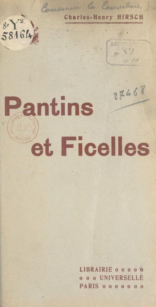 Pantins et Ficelles
