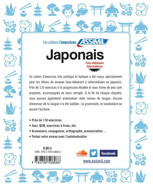 Japonais ; faux-débutants ; intermédiaire (édition 2019)