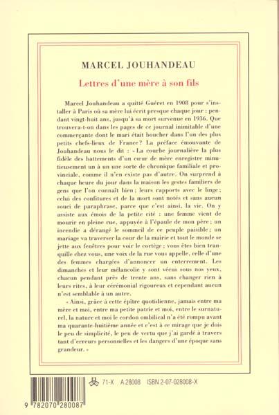 Lettres d'une mere a son fils