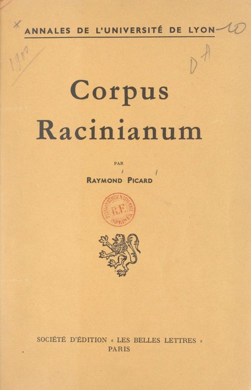 Corpus Racinianum
