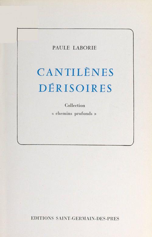 Cantilènes dérisoires