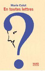 Vente Livre Numérique : En toutes lettres  - Marie Colot