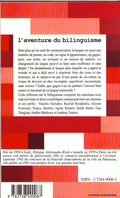 L'aventure du bilinguisme