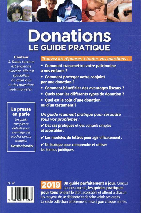 Donations le guide pratique (édition 2019)