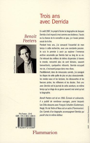 Trois ans avec Derrida ; les carnets d'un biographe