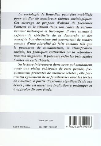 Premières leçons sur la sociologie de P. Bourdieu