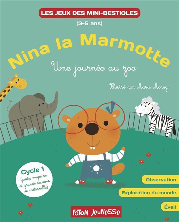 Nina la marmotte explore le monde : une journée au zoo
