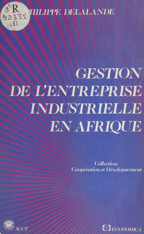 Gestion de l'entreprise industrielle