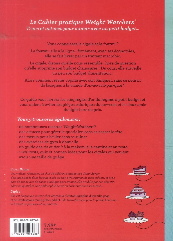 Mon Cahier Weight Watchers Trucs Et Astuces Pour Mincir Avec Un Petit Budget Diglee Sioux Berger Marabout Grand Format Librairies Autrement