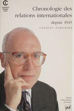 Vente Livre Numérique : Chronologie internationale (1945-1990)  - Charles Zorgbibe