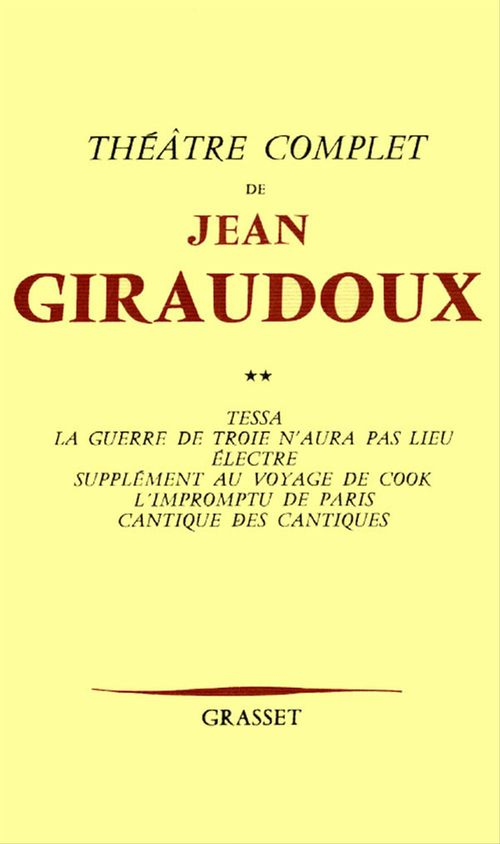 Théâtre complet T02  - Jean Giraudoux